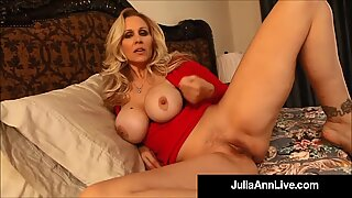 Watch Your Mommy Julia Ann Gives You Jerk Off Instructions!
