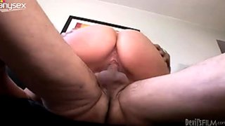 Bootylicious granny with big tits fucks her hubby on top