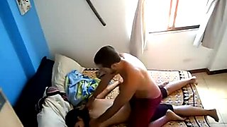 Desi bhabi sex filmed with a ceiling spy camera