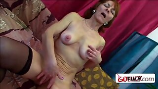 Horny granny Ivette is hot and ready to be drilled hard and deep