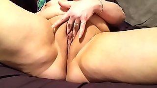 Sexy BBW Fucks Wet Pussy With Big 10 inch Pink Dildo