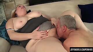 Plumper queen Julie Ann More gets her pussy pounded hard.