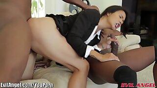 EvilAngel Asian in BBC Threesome