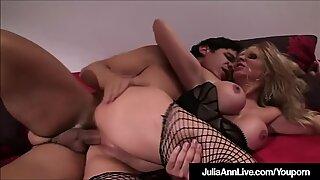 Sex Craved Cougar Julia Ann Rides Cock In Lingerie!
