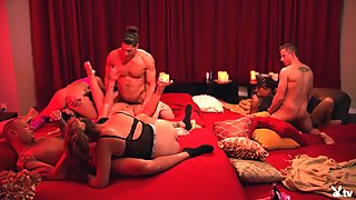 Nasty couples swap partners and hot orgy