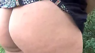Chubby Indian amateur slut Kikis gets naked in public