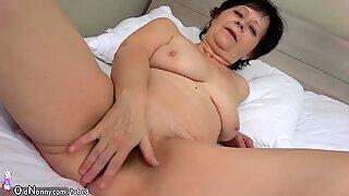 OldNanny Granny with pretty girl masturbating pussy with dildo