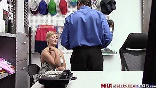 Blonde MILF thief Ryan Keely endures hardcore anal drilling