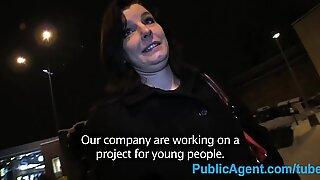PublicAgent Black haired amateur strips off for fake advertising job