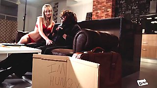 XXX SHADES - Hot Steak and Blowjob Day moment with Sicilia
