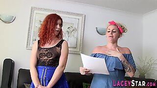 Lesbian gran watches pussy eating