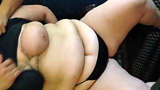 BBW tied tits and tit spank