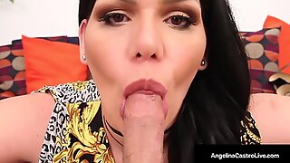 Wanna Free Ride? Hot BBW Angelina Castro Blows A Lucky Cock For A Lift!