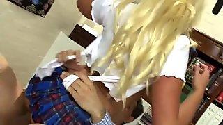 blonde whore banged by old geezer